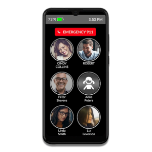 Phone for seniors with picture dialing
